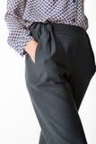 Dettagli dell'abbigliamento del ` s delle donne Il ` s delle donne ansima il modello Fotografie Stock