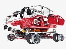 Dettagli dell'automobile Immagini Stock
