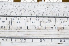 Dettagli dell'interno dell'arena di Guadalajara, Spagna fotografia stock