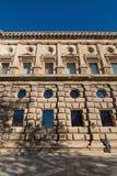 Dettagli dell'interno di Alhambra Immagine Stock