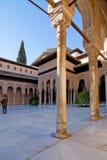 Dettagli dell'interno di Alhambra Fotografie Stock