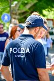 Dettagli dell'Italia Poliziotto italiano bello immagini stock libere da diritti