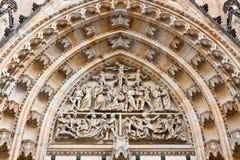 Dettagli della cattedrale della st Vitus, Praga Immagini Stock
