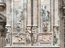 Dettagli della cattedrale di Milano Fotografia Stock