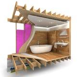 Dettagli della costruzione del bagno fotografie stock libere da diritti