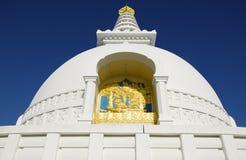 Dettagli della pagoda di pace di mondo di Lumbini fotografia stock libera da diritti