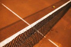 Dettagli della rete di tennis Immagine Stock