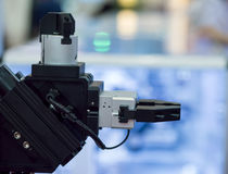 Dettagli delle macchine utensili di CNC Fotografia Stock Libera da Diritti