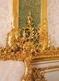 Dettagli delle mobilie al palazzo di Tsarskoye Selo Pushkin Fotografie Stock