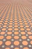 Dettagli delle piastrelle per pavimento della pietra di progettazione Fotografia Stock Libera da Diritti
