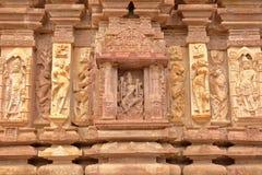 Dettagli delle sculture del tempio indù di Menal, Ragiastan, India Menal è situato 54 chilometri da Chittorgarh Immagine Stock