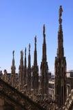 Dettagli delle statue di Milan Cathedral (Di Milano del duomo) Immagine Stock