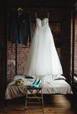 Dettagli dello sposo e della sposa Fotografia Stock Libera da Diritti