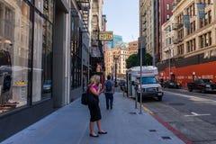 Dettagli di alcune vie nel distretto finanziario di San Francisco, la California, U.S.A. fotografia stock