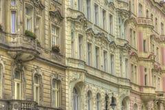 Dettagli di architettura di vecchia città Praga, repubblica Ceca Immagine Stock