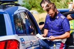 Dettagli di azione di polizia dell'Italia Fotografia Stock