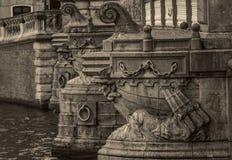 Dettagli di Blauwbrug a Amsterdam fotografia stock