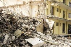 Dettagli di demolizione della costruzione Fotografia Stock Libera da Diritti