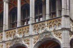 Dettagli di esterno del museo della città di Bruxelles su Grand Place fotografia stock libera da diritti