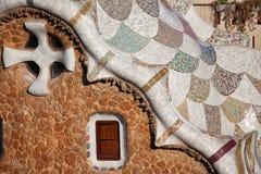 Dettagli di Guarda del della casa in parco Guell Immagini Stock Libere da Diritti
