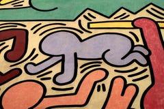 Dettagli di Keith Haring Fotografia Stock
