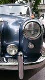 Dettagli di Mercedes Benz Adenauer - retro esposizione automatica della Romania in Sinaia Fotografie Stock Libere da Diritti