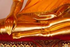 Dettagli di seduta della statua di Buddha, Tailandia fotografia stock