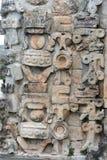 Dettagli di stile maya di architettura di Puuc - Uxmal, Messico Immagini Stock Libere da Diritti