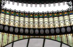 Dettagli di un mosaico di vetro Immagine Stock