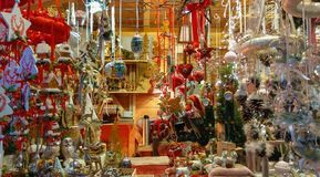 Dettagli di un supporto del mercato sul mercato di Natale a Salisburgo immagini stock libere da diritti