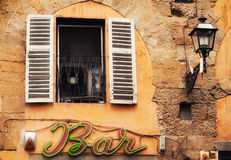 02 05 2016 - Dettagli di una facciata a Firenze Fotografia Stock Libera da Diritti