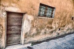 Dettagli di una parete rurale della casa Immagine Stock Libera da Diritti