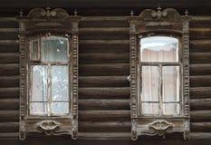 Dettagli di vecchio izba russo 2 immagine stock libera da diritti