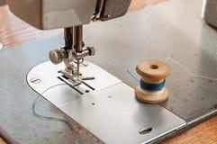 Dettagli di vecchio primo piano della macchina per cucire Fotografie Stock