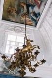 Dettagli interni del castello di Frederiksborg a Hillerod, Danimarca fotografia stock libera da diritti