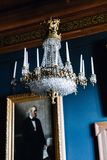 Dettagli interni del castello di Frederiksborg a Hillerod, Danimarca immagine stock libera da diritti