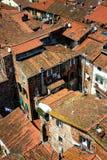 Dettagli la vista ai tetti della città di Lucca, Toscana, Italia Fotografia Stock Libera da Diritti