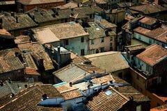 Dettagli la vista ai tetti della città di Lucca, Toscana, Italia Immagini Stock