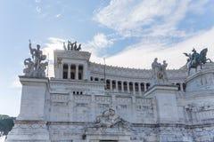 Dettagli la vista dell'altare della patria al venezia della piazza dentro Fotografie Stock