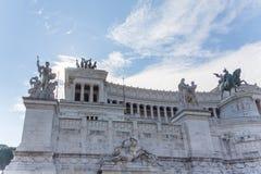Dettagli la vista dell'altare della patria al venezia della piazza dentro Fotografia Stock Libera da Diritti