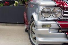 Dettagli su una vecchia automobile sportiva Immagine Stock Libera da Diritti