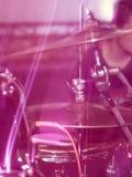 Dettagli sui tamburi nella banda rock Fotografia Stock