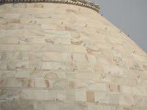 Dettagli Taj Mahal, sito storico famoso dell'Unesco, monumento di amore, la più grande tomba di marmo bianca del primo piano in I fotografie stock libere da diritti
