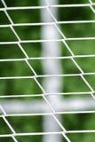 Dettaglia gli sport della sfera di calcio di scena Fotografia Stock