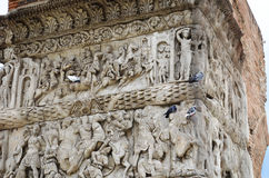 Dettaglia l'arco di Roman Empire In Thessaloniki In Grecia fotografie stock