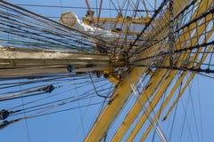 Dettaglia l'attrezzatura della nave sulla piattaforma Fotografia Stock Libera da Diritti