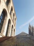 Dettaglia la città di bellezza di Milano dell'architettura Immagini Stock