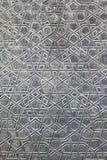 Dettaglia la porta della moschea blu Fotografie Stock