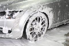 Dettagliare del lavaggio di automobile Fotografia Stock