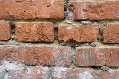 Dettagliato rappresentato del muro di mattoni rosso Fotografie Stock Libere da Diritti